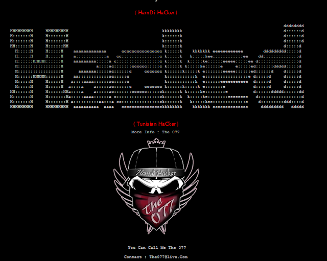 4000 Websites hacked by The 077 ( HamDi HaCker )