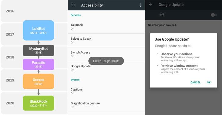aplicación de malware de Android banking