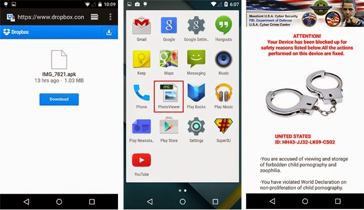 Koler Android Ransomware Learns to Spreads via SMS