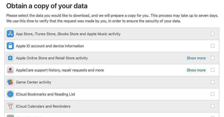 Here's How to Download All the Data Apple Collects About You