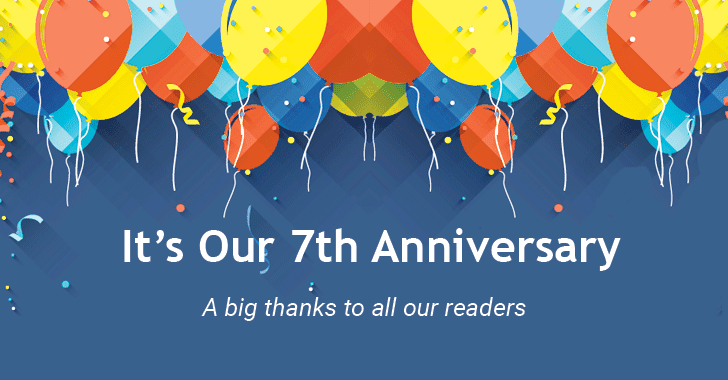 The Hacker News Celebrates 7th Anniversary — Big Thanks 🥂 to Our Readers