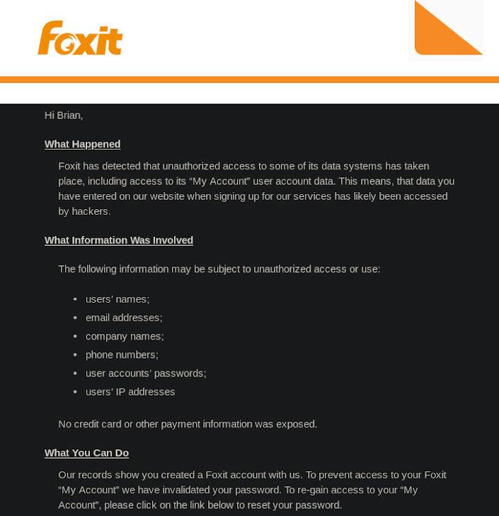 foxit data breach