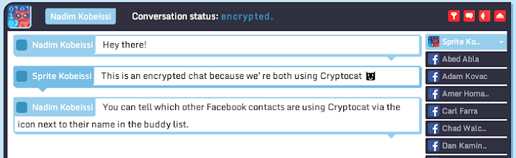 Cryptocat offers End-to End Encryption For Facebook Messenger