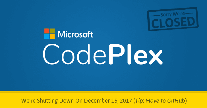 Microsoft is Shutting Down CodePlex, Asks Devs To Move To GitHub