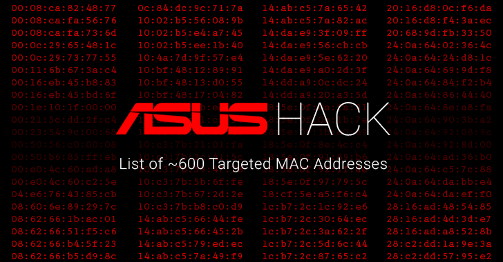 ASUS hack list of mac addresses