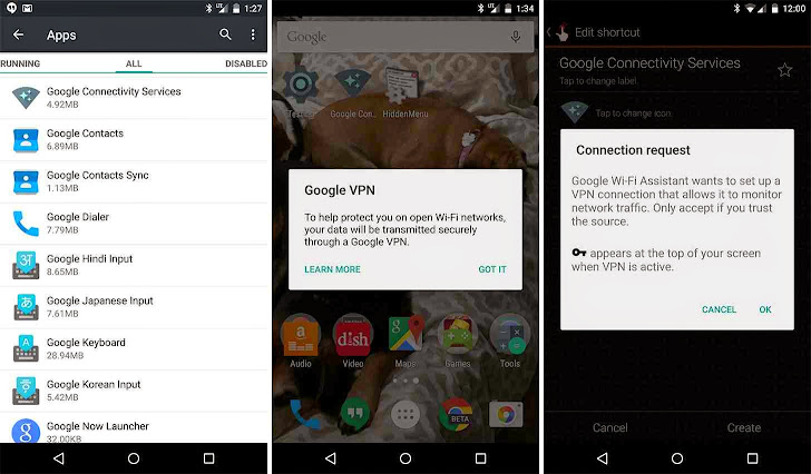 Google VPN in-built Hidden Service spotted in Android 5.1