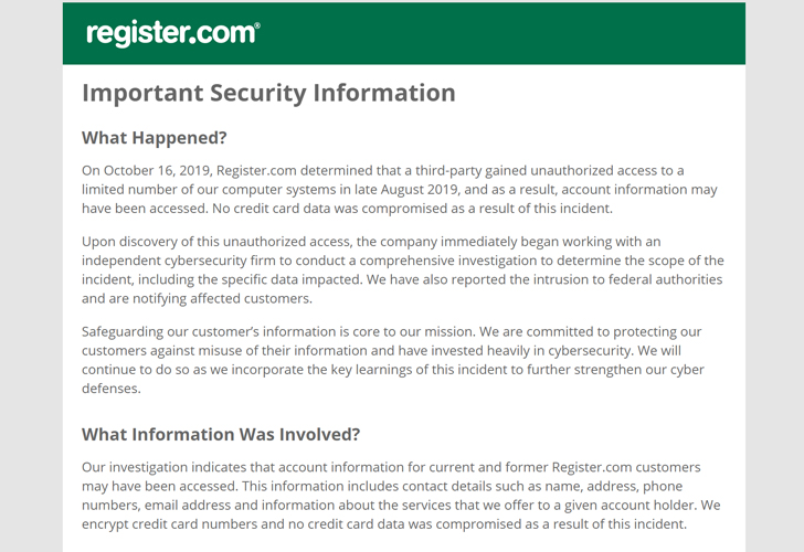 web domain registrar hacked