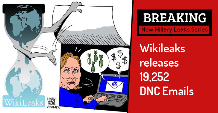 Hillary Leaks Series: Wikileaks releases 20,000 DNC Emails