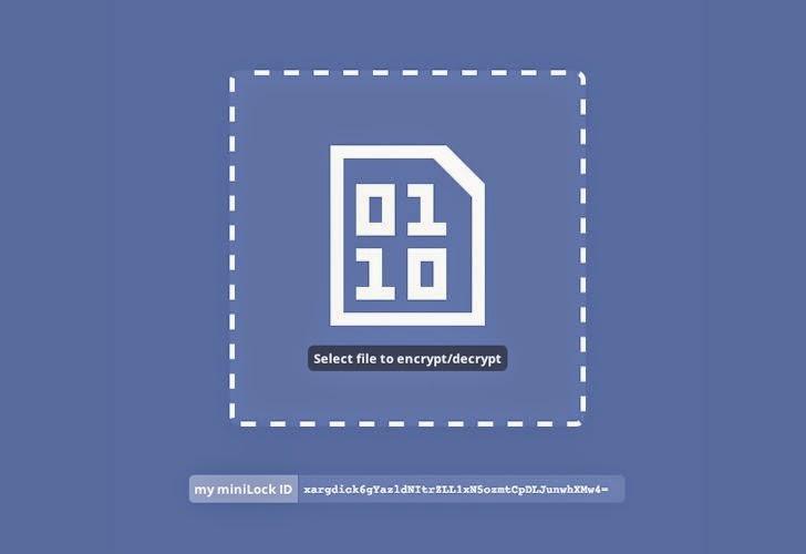 miniLock - Open Source File Encryption Program from CryptoCat Developer