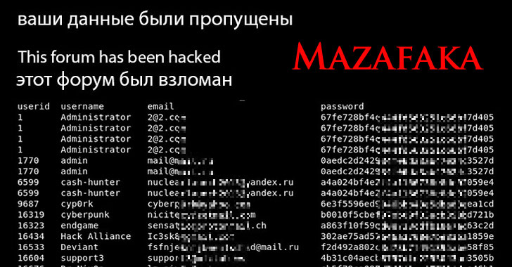 Mazafaka — Elite Hacking and Cybercrime Forum — Got Hacked!