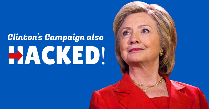 Hillary Clinton's Presidential Campaign also Hacked in Attack on Democratic Party