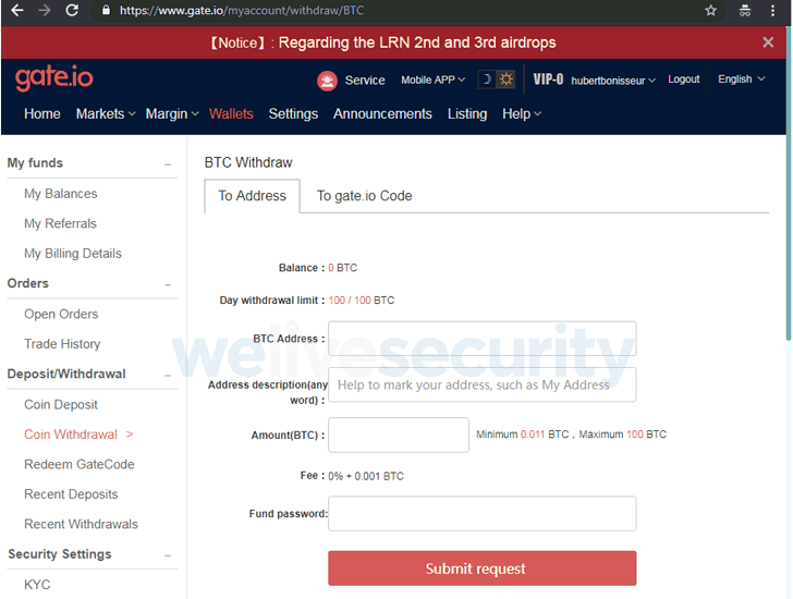 cryptocurrency exchange hacked with statcounter