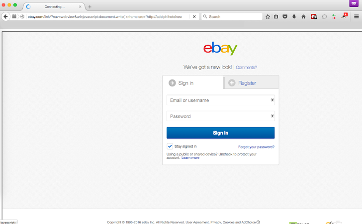 Simple Yet Effective eBay Bug Allows Hackers to Steal Passwords