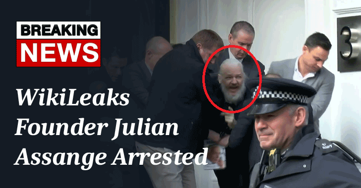 WikiLeaks Founder Julian Assange Arrested After Ecuador Withdraws Asylum