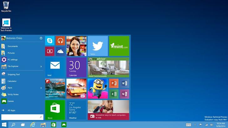 Microsoft Unveils Windows 10 — The Next Version Of Windows Operating system