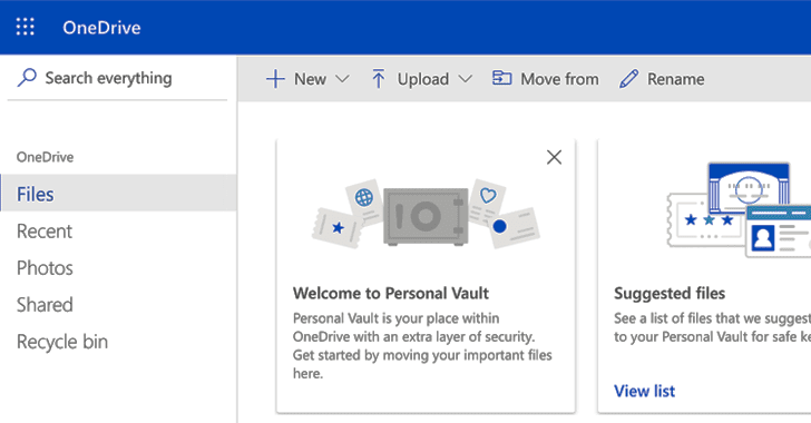 "Microsoft Adds 2FA-Protected ""Personal Vault"" Within OneDrive Cloud Storage"