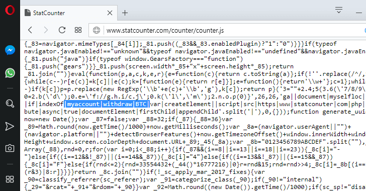 statcounter script hacked