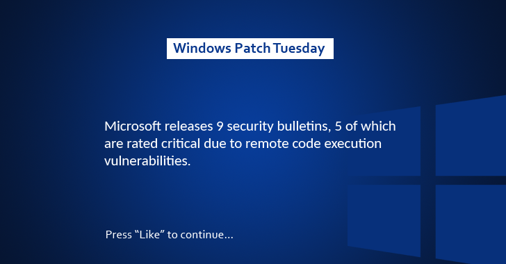 Microsoft Releases 9 Security Updates to Patch 34 Vulnerabilities