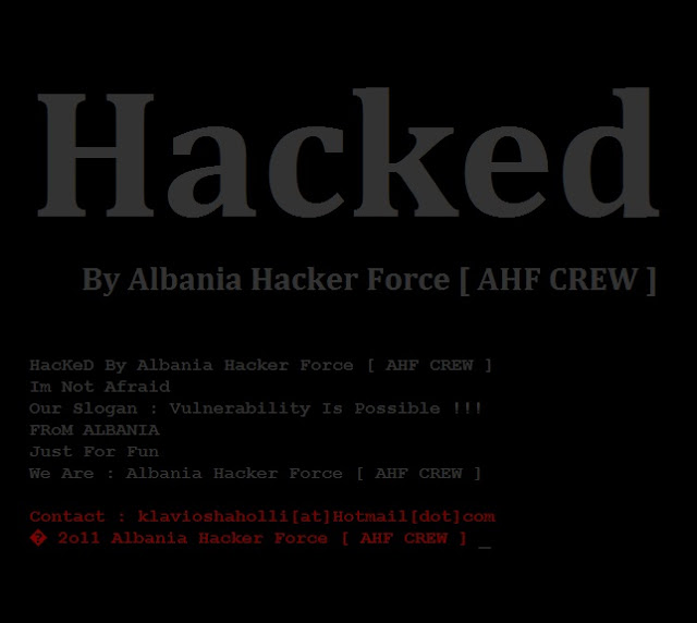 151 websites Got hacked By Albania hacker Force [AHF CREW]