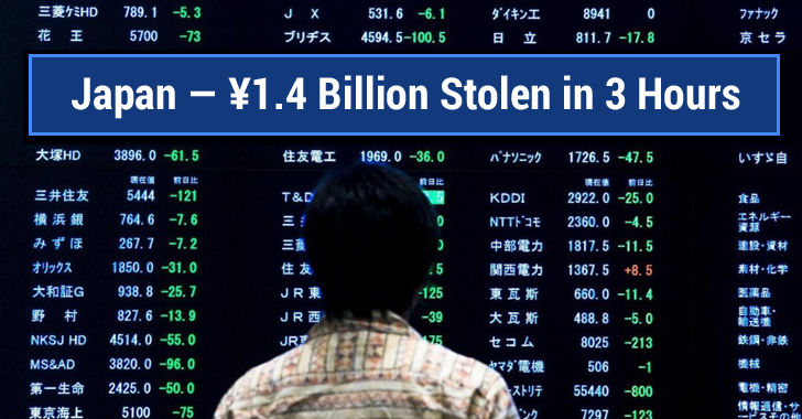 Fraudsters Stole ¥1.4 Billion from 1,400 Japanese ATMs in Just 3 Hours