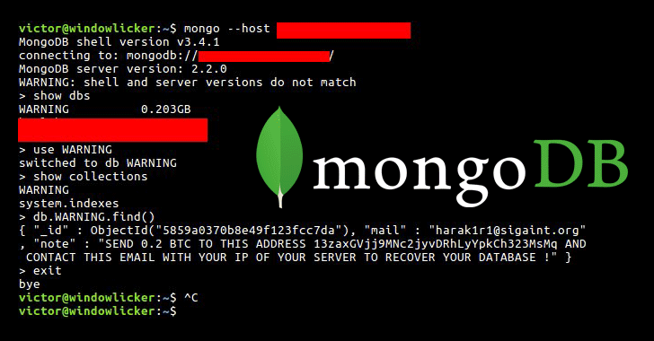 Someone Hijacking Unsecured MongoDB Databases for Ransom
