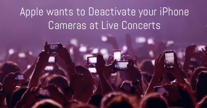 Apple Patents Technology to remotely disable your iPhone Camera at Concerts