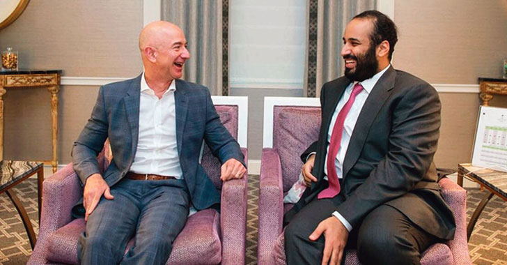 Jeff Bezos and Mohammed bin Salman