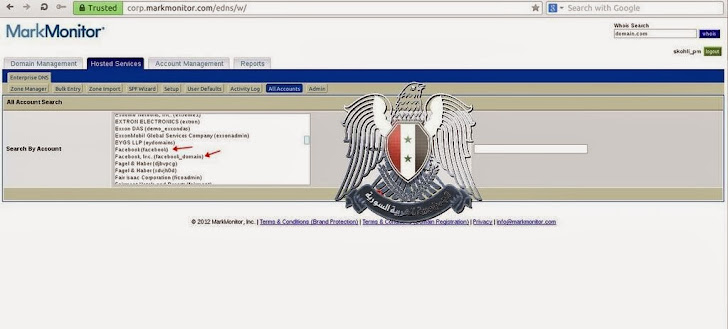 Facebook domain hacked by Syrian Electronic Army