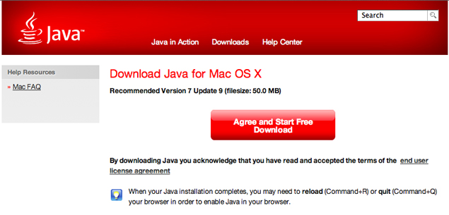 Apple update removes Java plugin from OS X browsers