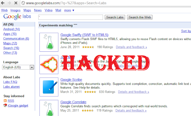 SQL Injection Vulnerability in Google Lab Database System