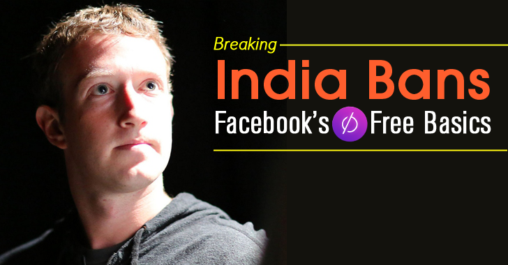 Breaking — India Bans Facebook's Free Basics Service