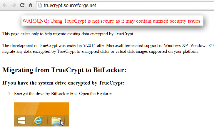 TrueCrypt Project Shuts Down, Mysterious End of Popular Encryption Tool