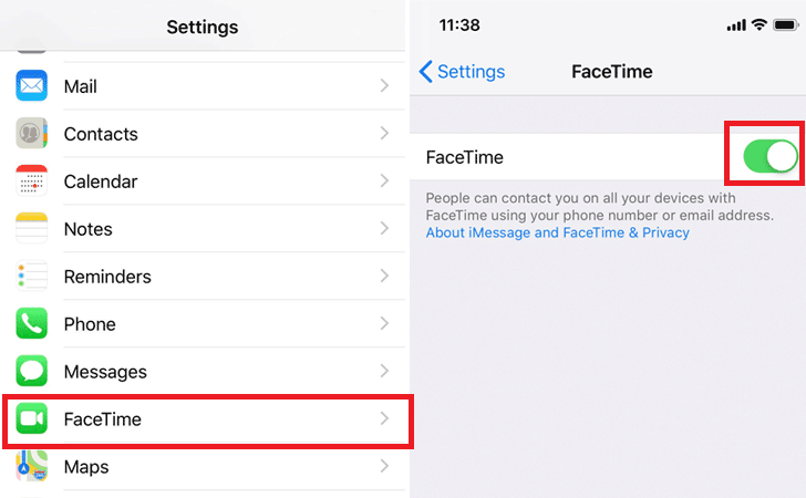 how to disable Facetime on Apple iPhone