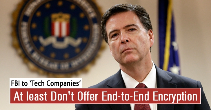 FBI Director Asks Tech Companies to At least Don't Offer End-to-End Encryption