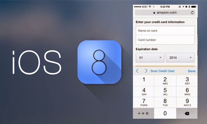 iOS 8 Safari Can Read Your Credit Card Details Using Device Camera
