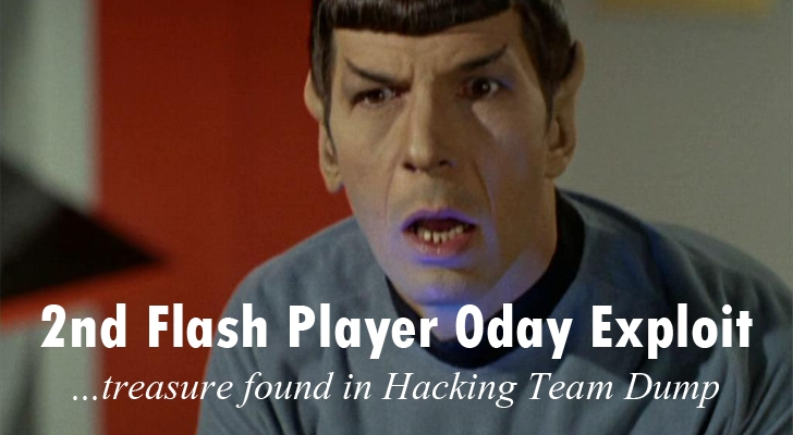 Second Flash Player Zero-day Exploit found in 'Hacking Team' Dump