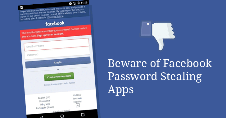 Facebook Password Stealing Apps Found on Android Play Store