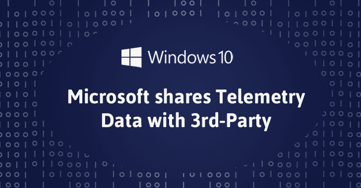 Microsoft Shares Telemetry Data Collected from Windows 10 Users with 3rd-Party