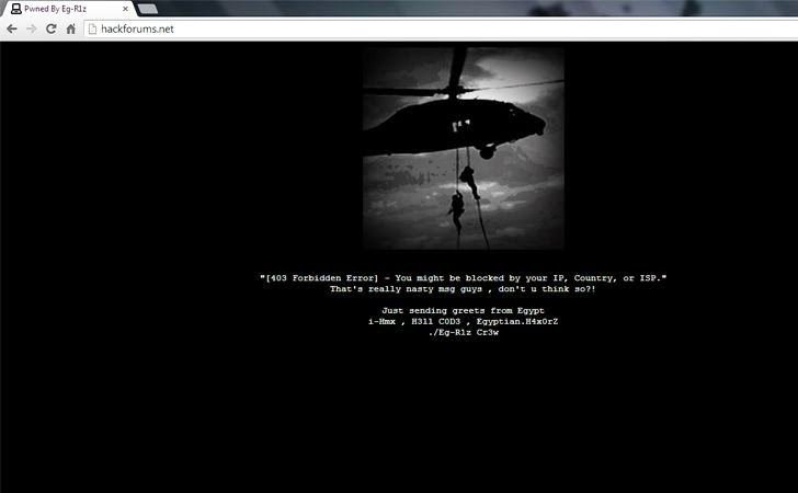 Hackforums Website Defaced by Egyptian Hacker