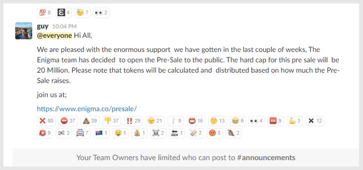 enigma-hacked-presale-scam