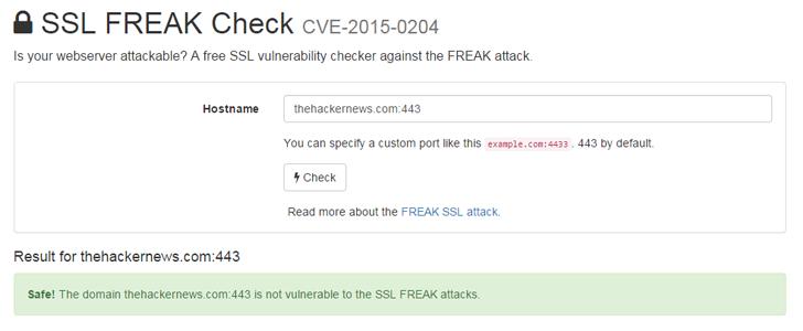 Online SSL FREAK Testing Tool