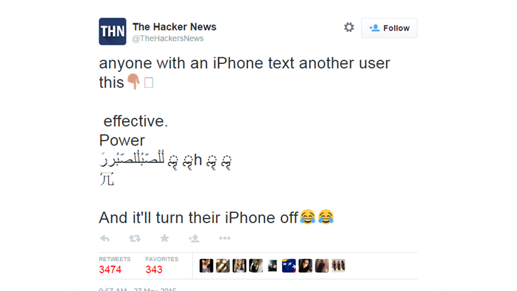 This Simple Text Message Can Crash and Reboot Your iPhone