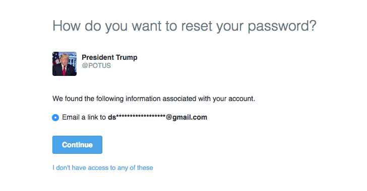 President Trump's @POTUS Twitter Linked To A Private Gmail Account