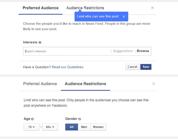 hack facebook post audience restriction